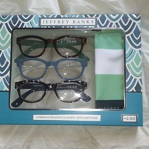 Jeffrey Banks 3 Reading glasses with case
